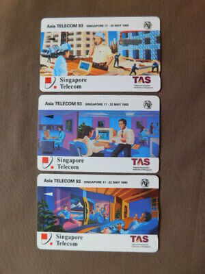 £0.86 • Buy 3 Magnetic Cards Used Singapore  -  TAS