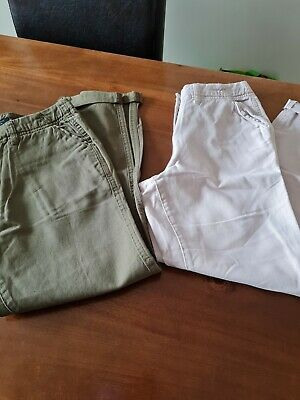 £1.50 • Buy New Look Girls Chinos Trousers One Khaki And One Pink Age 10 Years