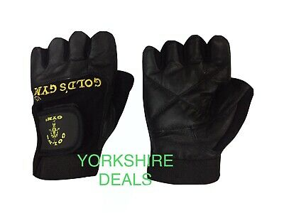 £3.99 • Buy Golds GYM Max Lift Leather Weight Lifting Gloves Body Building Gym Gloves ( M )