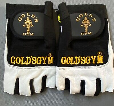 £4.50 • Buy Golds GYM Max Lift Leather Weight Lifting Gloves Body Building Gym Gloves