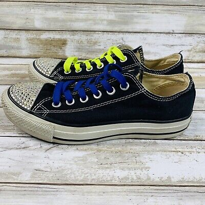 $ CDN24.34 • Buy Converse Womens Sneakers Size 7 Blue Casual Shoes Lace Up Closed Toe Low Top