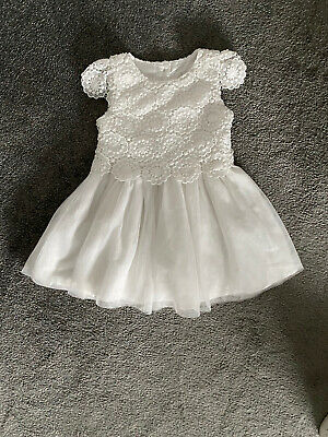 £2.50 • Buy Baby Girl White Lace Design Dress 12-18 Months
