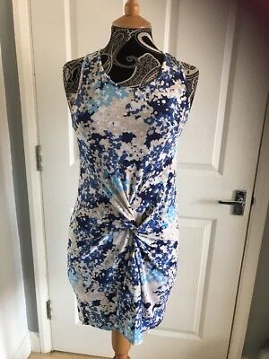 £8 • Buy House Of Fraser Wal G Blue Print Dress NWT , Size M,