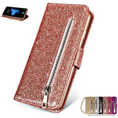 $ CDN12.18 • Buy For Samsung Galaxy S8 A6 J7 S9 Plus S7 Sparkle Leather Zipper Wallet Case Cover