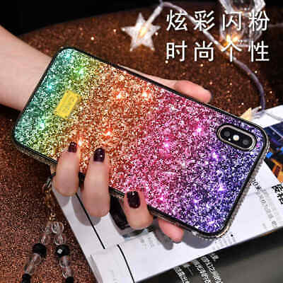 AU11.68 • Buy Bling Glitter Sparkly Crystal Slim Phone Case Cover For Apple IPhone Xs Max Xr 8