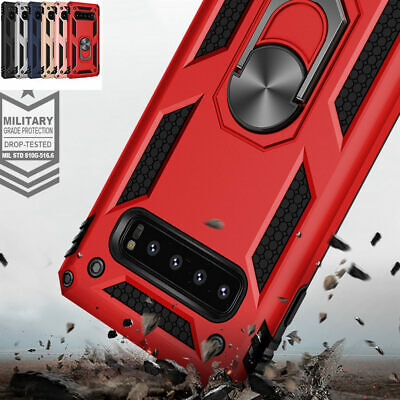 $ CDN60.89 • Buy For Samsung Galaxy S10 Plus S9 A9 Ring Holder Hybrid Armor Magnetic Case Cover