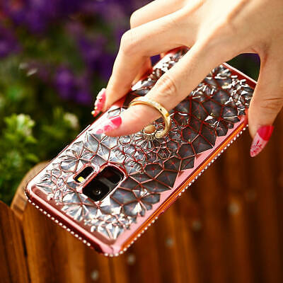 $ CDN8.51 • Buy For Samsung Galaxy S9 Plus S9 Diamond Finger Holder Ring Buckle With Case Cover