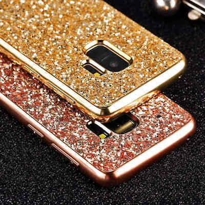 $ CDN11.57 • Buy Cute Slim Lady Chrome Bling Glitter Case Cover For Samsung Galaxy Note 9 Note 8