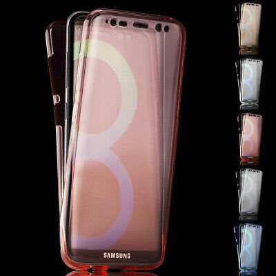 $ CDN10.96 • Buy For Samsung Galaxy S9 A8 360° Front And Back Protective TPU Clear Case Cover