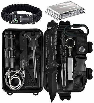 $26.59 • Buy Outdoor Military Survival Kit Camping EDC Emergency Tactical Gear First Aid Tool