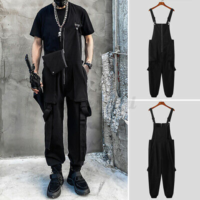 $24.30 • Buy Fashion Mens Dungarees Overalls Gothic Trousers Romper Jumpsuit Casual Pants UK