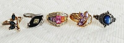$ CDN6.08 • Buy Vintage To Now Jewelry Ring Lot Crystal Rhinestone Glass