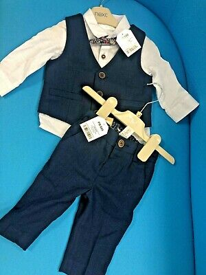 £7 • Buy BNWT Next Baby Formal Shirt With Bow Tie, Vest And Trouser /3 - 6 Mths / 68cm