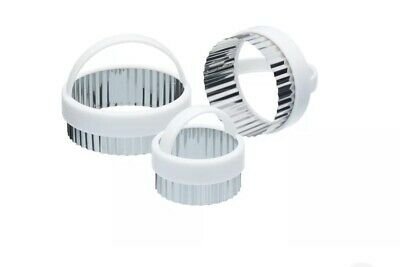 £6.99 • Buy KitchenCraft Set Of Three Fluted Pastry Cutters