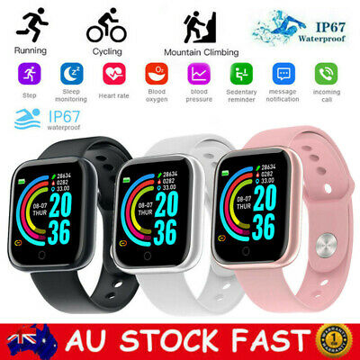 AU15.58 • Buy Smart Watch Bluetooth Heart Rate Blood Pressure Waterproof For IOS Android AU