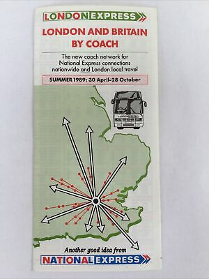 £1 • Buy London Express-London And Britain By Coach, National Express 1989