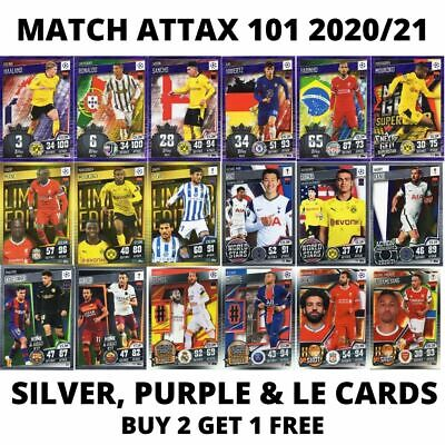 £2.08 • Buy Match Attax 101 2020/21 20/21 Silver And Purple Foil Cards - Choose Your Cards