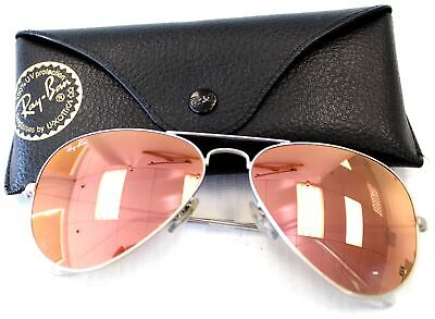 £24 • Buy Unisex RAY BAN Aviation Style Sunglasses Silver Metal Mirror Lens Preloved - K20