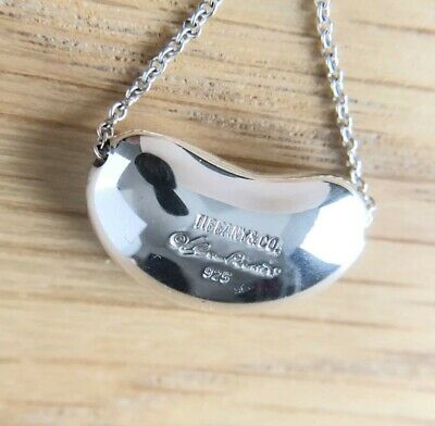 £63.33 • Buy Tiffany & Co. Sterling Silver 925 Large Bean 20mm Pendant Necklace NO BOX JP