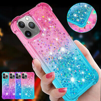 AU10.39 • Buy For IPhone 12 Pro Max 11 XS XR 7 8 Plus Case Bling Liquid Quicksand Rubber Cover