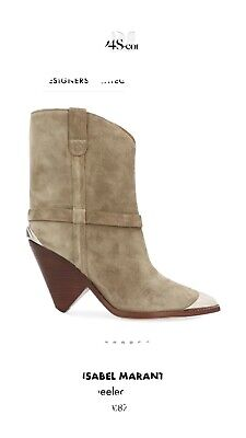 £400 • Buy Isabel Marant Lamsy Heeled Ankle Boot Size 38/5 As Seen On Chloe Lewis