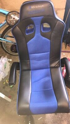 £30 • Buy X Rocker Adrenaline Gaming Chair For PS4 And Xbox One - Black/Blue