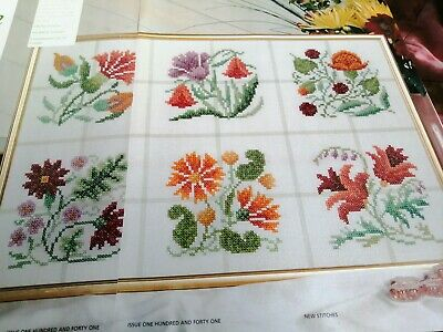 £1.99 • Buy Counted Cross Stitch Chart Spanish Tile Style Flowers  Chart  Only Mary Hickmott