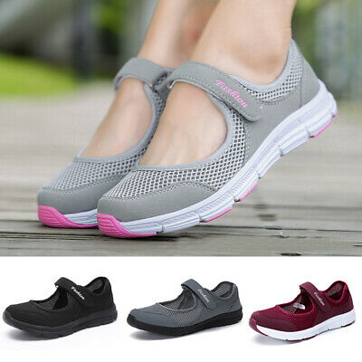 £11.99 • Buy Womens Slip On Shoes Ladies Low Wedge Pumps Comfy Casual Loafers Trainers Size