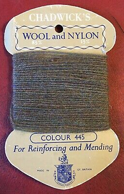 £10 • Buy Vintage 1970s Chadwick's Wool And Nylon For Reinforcing And Mending. Colour 219