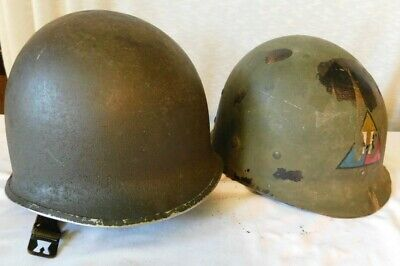 $89 • Buy Vintage WWII M1 Front Seam Fixed Bale HELMET With LINER