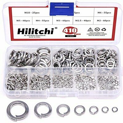 $15.39 • Buy [8-Size] 304 Stainless Steel Spring Lock Washer Assortment Set M2 M2.5 M3 M4 M5