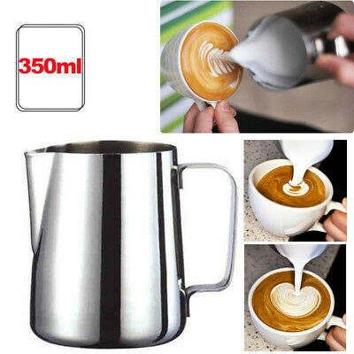 £9.45 • Buy Milk Frothing Pitcher Latte Coffee Steaming Foam Mug Jugs Container✅Craft Tools