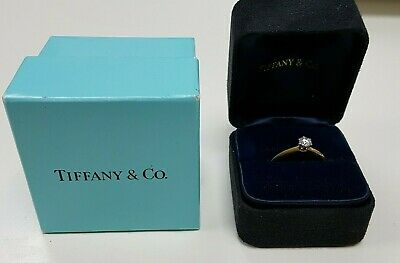 £795 • Buy Tiffany & Co 18ct Gold Platinum Set 0.25 VS2 Diamond Ring With Papers (82784)