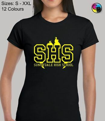 £8.95 • Buy Sunnydale High School Action TV Show Inspired Novelty Fitted T-Shirt For Women