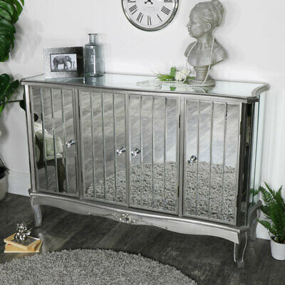 £18 • Buy Large Mirrored Sideboard Storage Unit Ornate French Living Room Hall Furniture