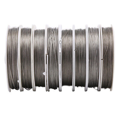 £4.14 • Buy Stainless Steel Craft Wire Many Sizes Coil Accessory Beading DIY Jewelry WYUOUK