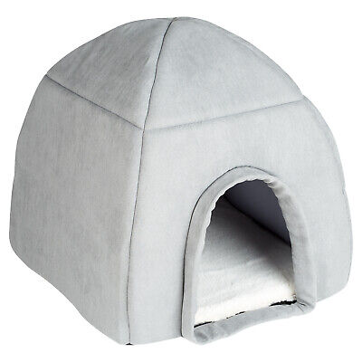 £22.99 • Buy Me & My Super Soft Large Grey Cat/dog Igloo Pet Bed Warm House/dome Puppy/kitten
