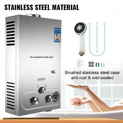 £120.87 • Buy 18L- Tankless Hot Water Heater Portable Propane Gas LPG Stainless Steel Outdoor