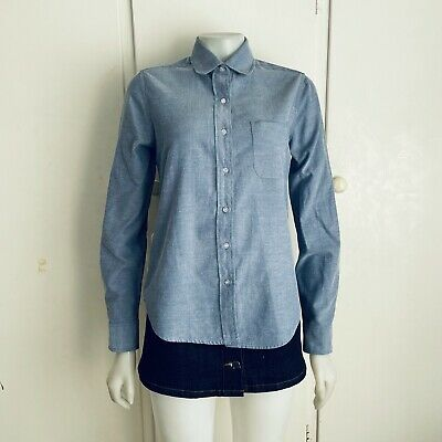 AU24.50 • Buy COOPERATIVE Urban Outfitters Blue Button Up Shirt Top Blouse S 8   Ex Cond