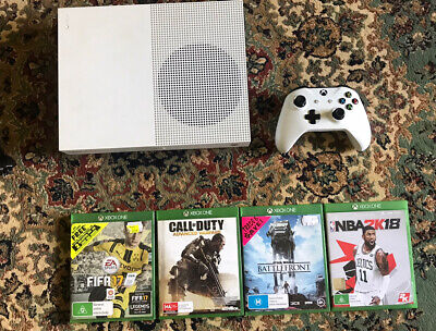 AU150 • Buy Microsoft Xbox One S 500GB Console - White. With 4 Games And Controller