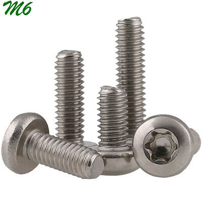 $7.03 • Buy M6 1.0 Metric 304 Stainless Steel Button Head Torx Security Machine Screws Bolts