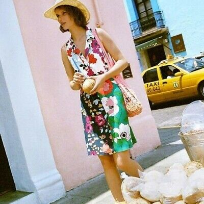 $ CDN49.80 • Buy NWOT ANTHROPOLOGIE Bright Floral Dinah Collared Tunic Dress 8
