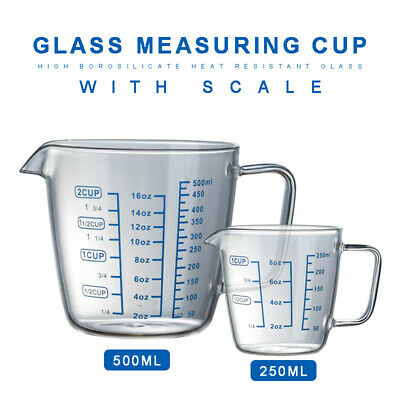 £9.89 • Buy Clear Heat-resistant Thick Glass Measuring Cup Microwave Jug With 3 Scales ´UK