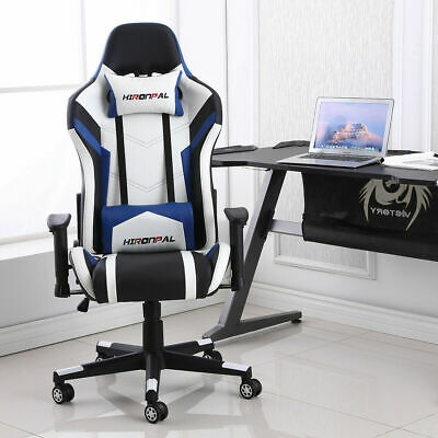 £40.99 • Buy Executive Racing Gaming Computer Office Adjustable Swivel Recliner Leather Chair