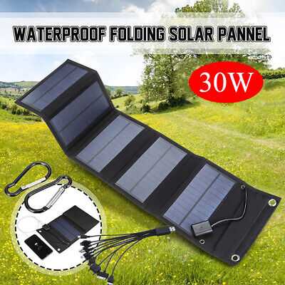 £24.99 • Buy Portable 30W Foldable Solar Panel Charger Kit With USB Cables For Camping ´UK