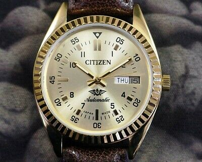 $ CDN10.58 • Buy Unused Citizen Automatic Gp Case Japan Men's Used Old Watch / Working -14621