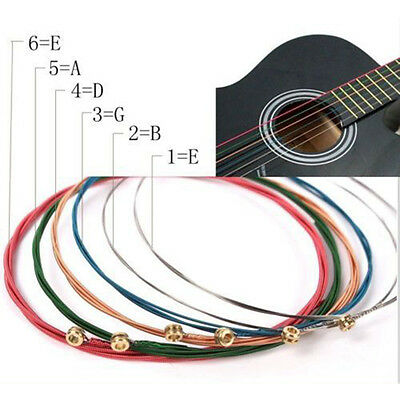 $ CDN2.82 • Buy NEW One Set 6X Rainbow Colorful Color Strings For Acoustic Guitar Accessory J Uj