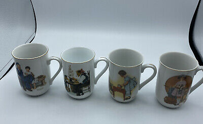 $ CDN25.72 • Buy Lot Of 4 Vintage Norman Rockwell Cups Mugs Museum Collection Coffee Tea White