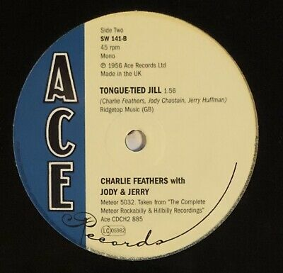 £16.50 • Buy Charlie Feathers Get With It / Tongue-Tied Jill Vinyl 7 .11501.