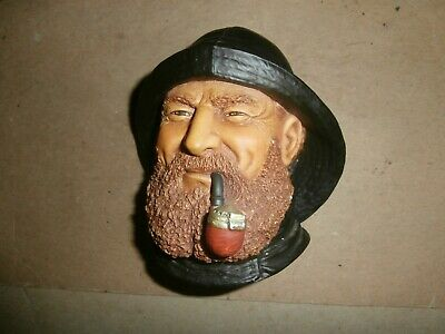 £43.45 • Buy Vintage 1992 Bossons England Chalkware Head Wall Plaque Clipper Captain